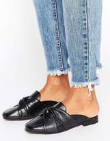 New Look Leather Knotted Mule