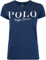 Polo Ralph Lauren logo print T-shirt - women - Cotton - M