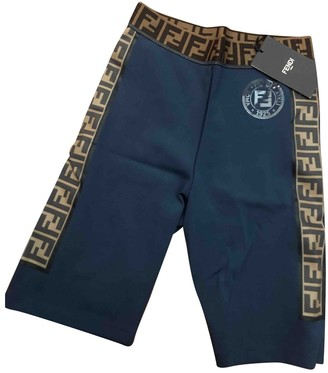 Fendi Blue Lycra Shorts for Women