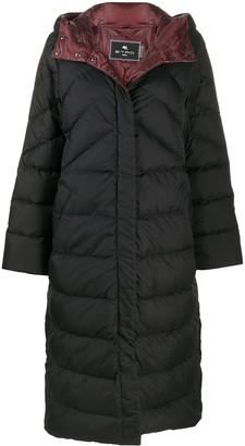 Etro Plumifero long puffer coat