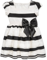 Sweet Heart Rose Shadow Stripe Party Dress, Little Girls (2-6X)