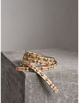 Burberry Studded Haymarket Check Double-wrap Belt