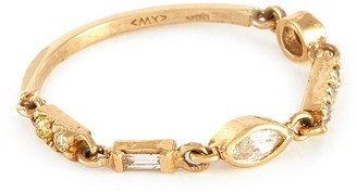Xiao Wang Astro' diamond 18K gold ring