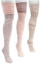 Muk Luks Women's Microfiber Texture Over the Knee Socks