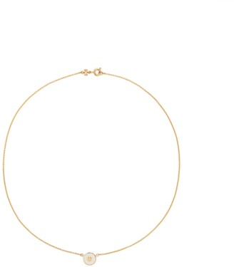 Tory Burch Kira Enameled Pendant Necklace