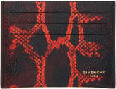 Givenchy Black Python Card Holder