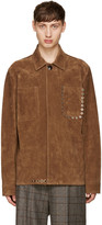 Acne Studios Brown Suede Amor Jacket