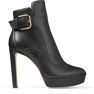 Jimmy Choo BRITNEY 115 Black Smooth Leather Boots
