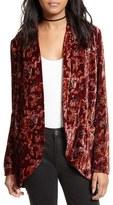 Free People Women's Crinkle Velvet Jacket