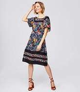 LOFT Flowerbed Flare Dress