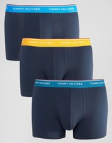 Tommy Hilfiger Premium Trunks In 3 Pack Navy