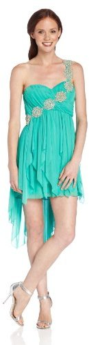 My Michelle Sequin Hearts by Juniors Jewel One Shoulder Social Dress