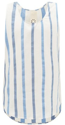 Marrakshi Life - Striped Cotton-blend Tank Top - Mens - Blue Multi
