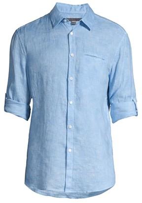 John Varvatos Garment Dye Button-Down Shirt