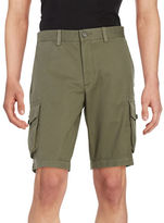 Black Brown 1826 Cotton Cargo Shorts