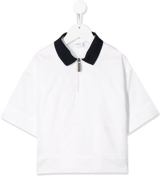 Boss Kids Zip-Up Polo Shirt