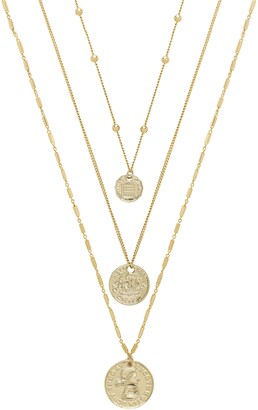 Ettika Set of 3 Coin Pendant Necklaces