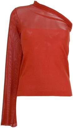 Romeo Gigli Pre-Owned single sleeve blouse
