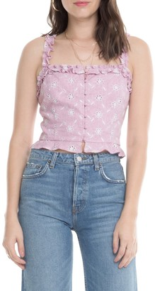 ASTR the Label Esther Sleeveless Ruffle Crop Top