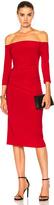 Norma Kamali Off Shoulder Shirred Waist Dress
