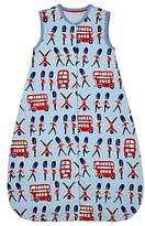 John Lewis London Travel Sleep Bag, 1 Tog, Blue