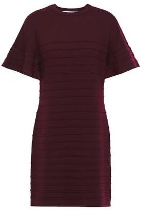 Victoria Victoria Beckham Ribbed Wool Mini Dress