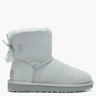 UGG Mini Bailey Bow II Grey Violet Twinface Boots