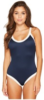 RVCA Bayside Ribbed One-Piece Women's Swimsuits One Piece