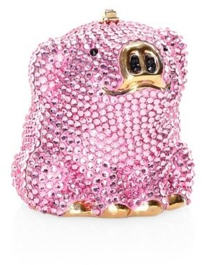 Judith Leiber Couture Wilbur Pig Crystal Pillbox