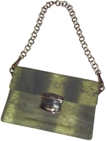 Prada Green Cloth Clutch bag