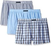 Perry Ellis Men's 3-Pack Assorted Woven Boxer