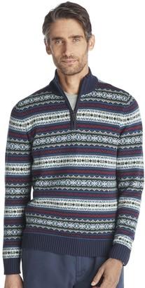 Izod Men's Classic-Fit Fairisle Quarter-Zip Sweater
