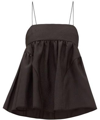 Cecilie Bahnsen Emilia Rose Cloque Cami Top - Black