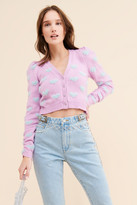 Thumbnail for your product : For Love & Lemons Scarlet Cropped Cardigan