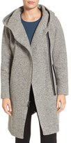 Andrew Marc Women's Hooded Wool Blend Coat