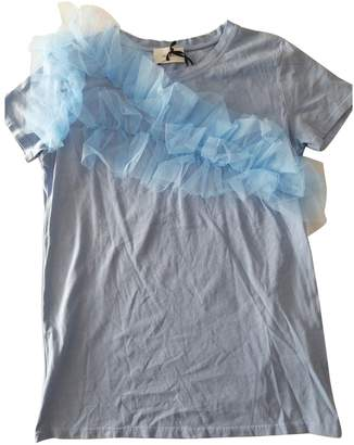 Vicolo Blue Cotton Top for Women