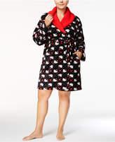 Hello Kitty Winter Dreams Plus Size Fleece-Collar Robe