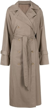 Totême Tied-Waist Double-Breasted Trench-Coat