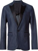 DSQUARED2 denim effect blazer - men - Silk/Cotton/Polyester - 50