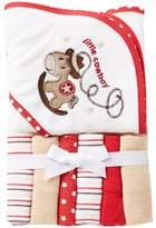 Starting Out Cowboy Hooded Bath Towel & Washcloths Set