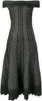 Alexander McQueen jacquard knit dress - women - Viscose/Silk/Polyester - S