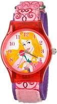 Disney Kids' W001698 Aurora Analog Display Analog Quartz Pink Watch