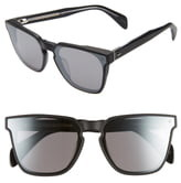 Rag & Bone 62mm Oversize Flat Front Sunglasses