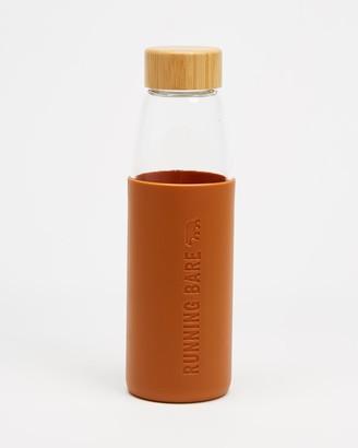 Running Bare Earth Bear Eco Glass Bottle