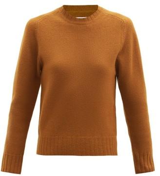 Jil Sander Cropped Boiled-wool Sweater - Mid Brown