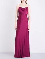 Diane von Furstenberg Cowl neck charmeuse gown