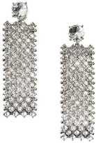 H&M Rhinestone Earrings - Silver-colored - Ladies