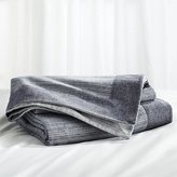 Crate & Barrel Neily Blue Blanket