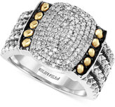Effy Balissima by Diamond Statement Ring (1/3 ct. t.w.) in Sterling Silver and 18K Gold