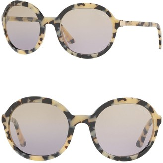 Prada 59mm Round Sunglasses